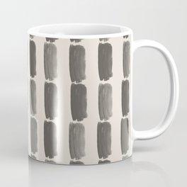 Brown and Cream Grid Brushstroke Pattern 2021 Color of the Year Urbane Bronze and Shoji White Coffee Mug