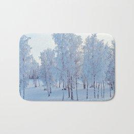 Snow Trees Bath Mat