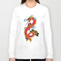 dragon ball Long Sleeve T-shirts featuring dragon  by mark ashkenazi
