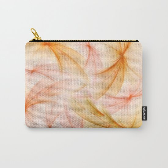 Orange and Peach Fluff Abstract Carry-All Pouch