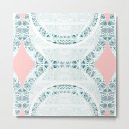 Pink & Blue Print III Metal Print