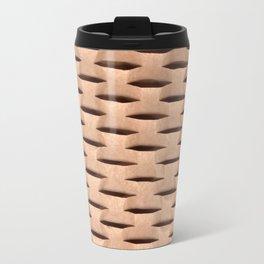 Brown Kraft Paper Weave Texture Travel Mug