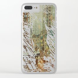 Northeast Village Snowfall Clear iPhone Case