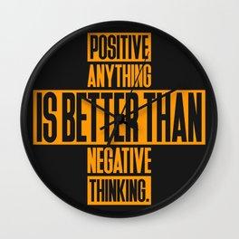 Lab No. 4 Positive Anything Elbert Hubbard Life Inspirational Quotes Wall Clock