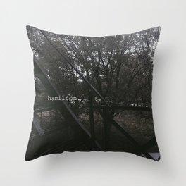 hamilton. Throw Pillow