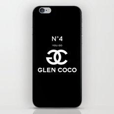 Glen Coco No 4 Black iPhone & iPod Skin
