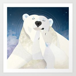 Shanti Sparrow: Bridget and Bailey the Polar Bears Art Print
