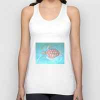 sea turtle Tank Tops featuring Turtle by Victoria Bladen