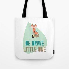Brave Little Fox Tote Bag