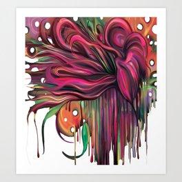 The Corsage- Fantasy Floral  Art Print