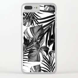 Tropical Jungle Leaves Pattern #10 #tropical #decor #art #society6 Clear iPhone Case