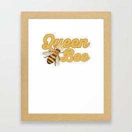 Beekeeper Fun Queen Bee Beekeeper Gift Framed Art Print