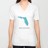 florida V-neck T-shirts featuring Florida by Hunter Ellenbarger