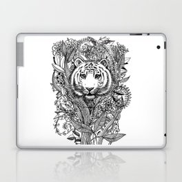 Tiger Tangle in Black and White Laptop & iPad Skin