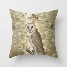 On the speculation of Keats , and the gaze of the owl. We are all in camouflage. Throw Pillow