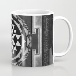 Sri Yantra XVII - Silver White Coffee Mug