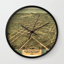 Map Of Huntsville 1871 Wall Clock