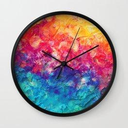 Plastered Memories 3 Wall Clock