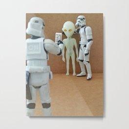 Selfie   © Tony Leone - Art Wars series Metal Print