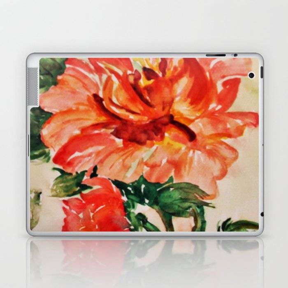 red rose japanese art Laptop & iPad Skin