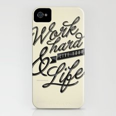 Work Hard Slim Case iPhone (4, 4s)