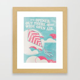 Wide open Air Framed Art Print