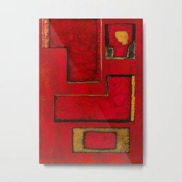 Detached, Abstract Shapes Art Metal Print