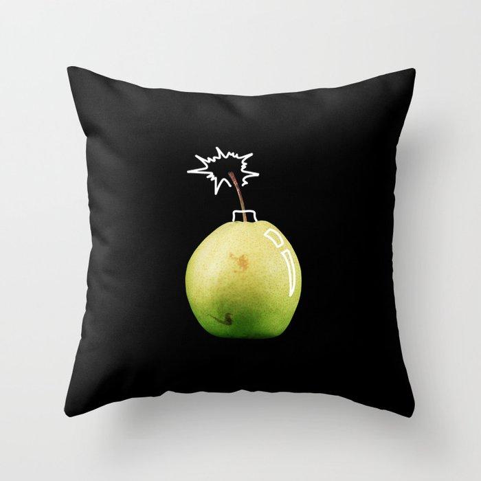 Pear Bomb Throw Pillow