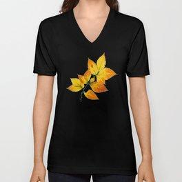 Autumn Leaves Azure Sky Unisex V-Neck