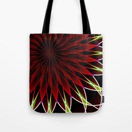 Neon flower mandala Tote Bag