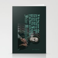 valar morghulis Stationery Cards featuring Arya Stark, Valar Morghulis by Your Friend Elle
