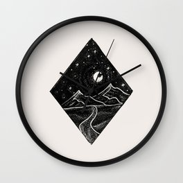 Mountains and Stars Wall Clock