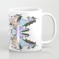 unicorns Mugs featuring Unicorns by abbykaye