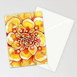 Marigold Mandala Stationery Cards