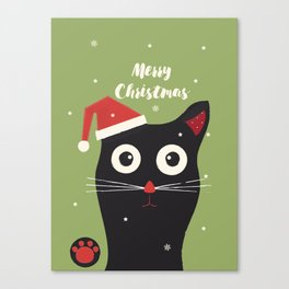 Christmas Cat Canvas Print