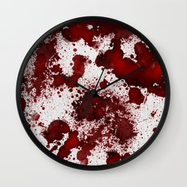 Blood Stains Wall Clock