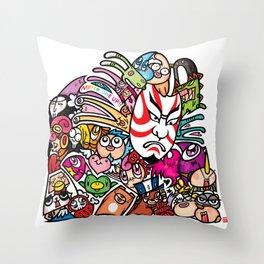 歌舞伎 - JAPANESE KABUKI Throw Pillow