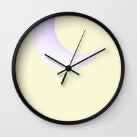 bon iver Wall Clocks featuring Bon Iver Blue Moon by Muhammad Usman