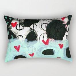 Falling Hearts Rectangular Pillow