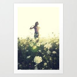 Field of Queen Anne's Lace Art Print