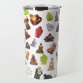a bunch of buddhas. Travel Mug