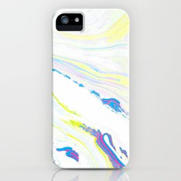 Blue & Yellow Marbling iPhone Case