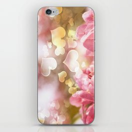 i heart Pink Crabapple Tree Blossoms iPhone Skin