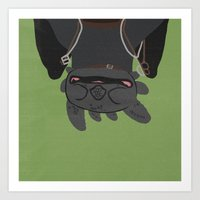 toothless Art Prints featuring Toothless by Raquel Segal