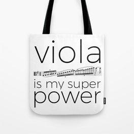 Viola is my super power (white) Tote Bag