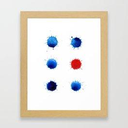 Watercolor splashes. Colorful watercolor blots. Framed Art Print