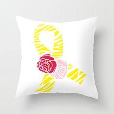 Endometriosis Awareness Ribbon Throw Pillow