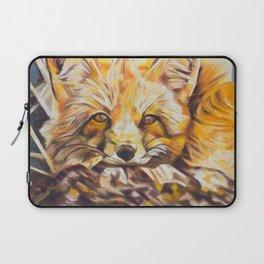 Cozy Fleece Fox Laptop Sleeve