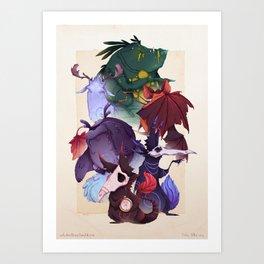 Real Monsters Volume 1 Art Print