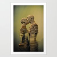 lovers Art Prints featuring Lovers. by David Prior Photography